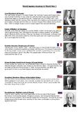 Leaders in World War 1