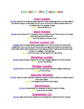 Leaders in the Classroom