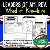 Leaders of American Revolution Activity, Wheel of Knowledge Interactive Notebook
