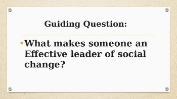 Leaders of Social Change (Expeditionary Learning)