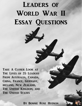 Leaders of World War II Essay Questions