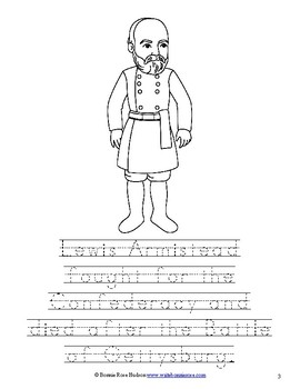 Leaders of the American Civil War Coloring Book - Level B by ...