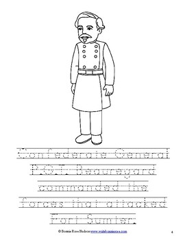 Leaders of the American Civil War Coloring Book - Level B