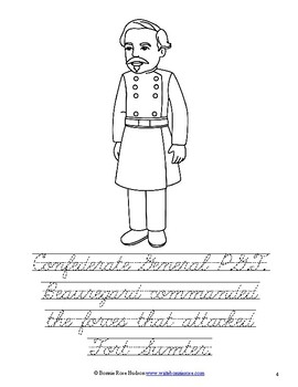 Leaders of the American Civil War Coloring Book - Level C by ...