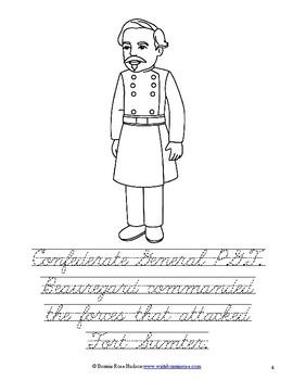 Leaders of the American Civil War Coloring Book - Level C