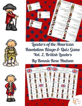 Leaders of the American Revolution Bingo & Quiz Game Volum