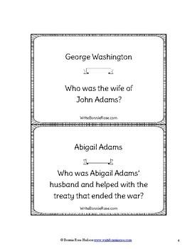 Leaders of the American Revolution Loop Cards