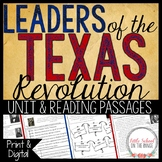 Texas History - Leaders of the Texas Revolution Unit