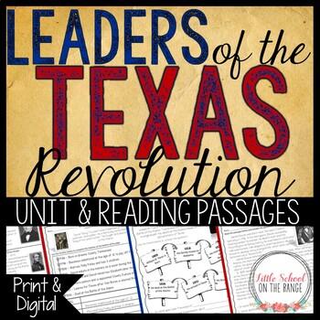 Texas History - Leaders of the Texas Revolution Unit
