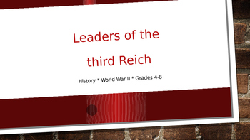 Leaders of the Third Reich