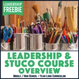 Leadership Student Council Course Overview and Calendar