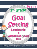 Leadership & Academic Goal Setting Cards 2nd Grade