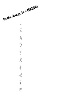 Leadership Acrostic
