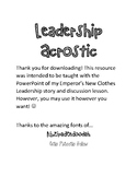 Leadership Acrostic