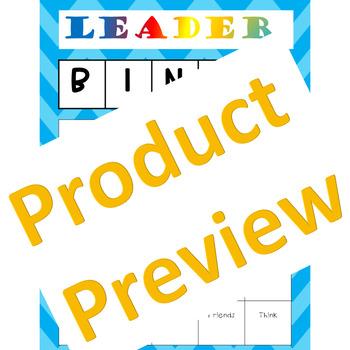 Leadership BINGO for Team Building and Leader Skills Habits Fluency