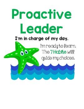 Leadership Behavior Clip Chart - Ocean Theme