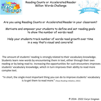 Leadership Binder Million Word Tracking for Reading Counts or Accelerated Reader