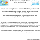 Million Words Data Tracking for Reading Counts or Accelera
