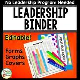 Data Binder - Leadership Binder - EDITABLE