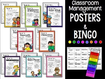 Classroom Community Bingo Cards & Posters EDITABLE (K-6)