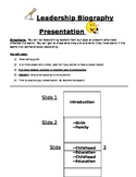 Leadership Biography Presentations Guidelines