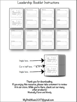 Leadership Booklet: 8 habits included (plus matching poster)