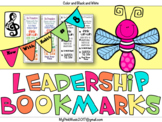 Leadership Bookmarks: Color and Black & White designs