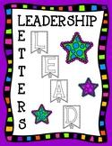 Leadership Pennant Classroom Display Letters