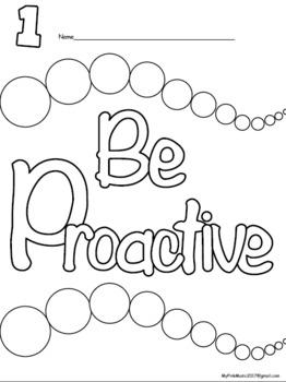 Leadership COLORING Sheets: 8 habits - print  & GO (Freebie in DOWNLOAD)