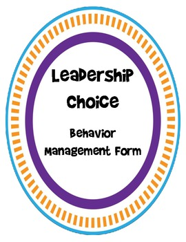 Leadership Choice Form