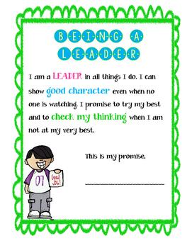 Leader Color Clip Behavioral Chart
