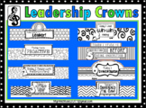 Leadership Crowns: 8 different designs (Blackline)