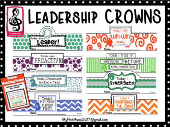 Leadership Crowns: all 7 habits from Leader in Me included
