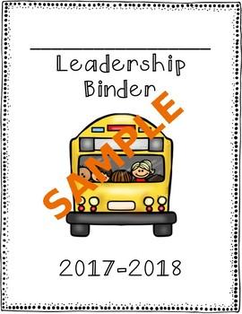 Leadership/Data Binder Templates BUNDLE 2017-2018