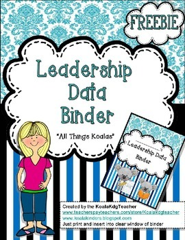 Leadership Data Binder cover page