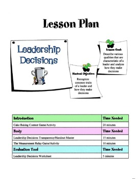 Leadership Decisions Lesson