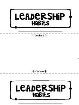 Leadership Flip-Book: 7 pages for student writing- plus matching poster
