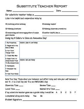 Leadership Guest/Substitute Teacher Report