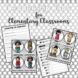 Leadership Jobs for Elementary Classrooms {Gray Dots} #