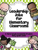 Leadership Jobs for Elementary Classrooms {Lime Dots}