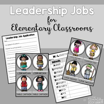 Leadership Jobs for Elementary Classrooms {Plain Gray}