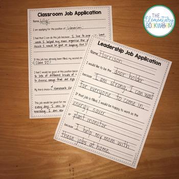 Leadership Jobs for Elementary Classrooms {Plain Green}
