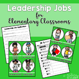 Leadership Jobs for Elementary Classrooms {Plain Green}
