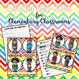 Leadership Jobs for Elementary Classrooms {Rainbow Chevron}