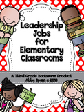 Leadership Jobs for Elementary Classrooms {Red Dots}