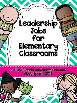 Leadership Jobs for Elementary Classrooms {Teal Chevron}