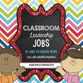Classroom Jobs For Leaders: Bright Color Scheme EDITABLE