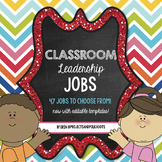Classroom Jobs For Leaders: Bright Color Scheme EDITABLE