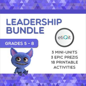 Leadership Middle School Bundle | Prezis & Printable Activities