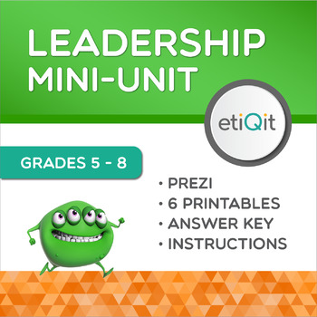 Leadership Middle School Mini-Unit | Prezi & Printable Activities